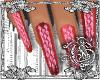 {G}Red Pink DiamondNails