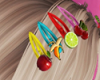 Fruit Hair Clips