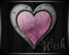 {Wish}Mauve Heart Sticke