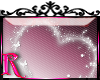 *R* Sparkle Heart Stiker