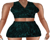 Maddy Teal Skirt Outfit