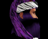 purple zeebra santa hat