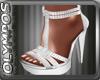 *O* White Sandals