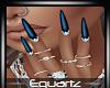 Summer Ocean Blue Nails