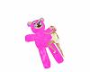 pink chat teddy bear