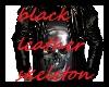 blouson cuir noir H TDM