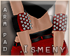 [Is] Spiked Red Arm Pads