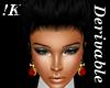 !K! Rose Earrings Mesh