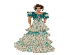 Silver & Teal Laced Gown