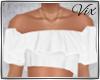 WV: White Ruffle Top