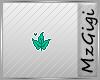Autumn Leaf - Teal-Badge