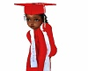 kids graduation gown red