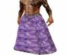 purple animal print robe