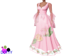 Medieval pink rose gown