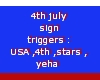 USA sign 4th july