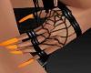 Spiderweb Gloves Orange