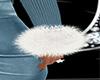 White Fur Bracelets R+L