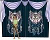 spirit wolf blue curtain