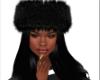 Black fur hat
