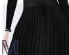 [M] Pleated skirt-black