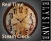 {E} RealTime Steam Clock