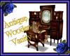 Antique wooden vanity