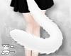 Y' White Neko Tail