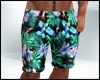 Tropical Green Shorts