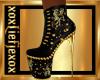 [L] BADGIRL Gold Boots F