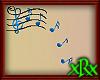 Music Note Decor Blue