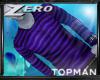 |Z| Topman Purple Stripe