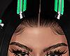 Hair clips GREEN