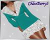 Winter Knit Dress Teal