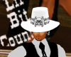 White hat with hair
