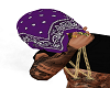 PURPLE BANDANA HEAD TOWE