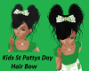 Kids St Pattys Day Bow