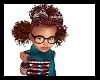 Kids 3 Big Red Afro Puff