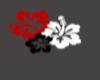Red&Black Flower tattoo