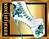 [L] BADASS White Boots F