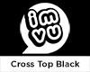 IMVU Cross Top Black