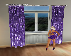 [W]Purple Velvet Curtain