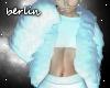[B] White Fur & Sweater