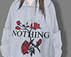 Rose Print Sweatshirt