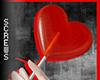 V Lolli Heart Red