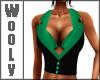 Vest top green blk