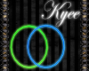 Neon Blue/Green Hoops