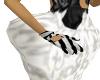 sexy zebra print gloves
