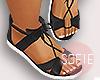 ❀ kids black sandals