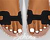 ṩOran Sandals Blk
