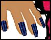 ^j^ Plaid Nails Blue